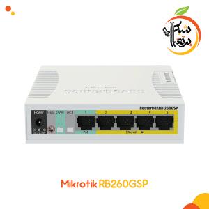 پرتقال شبکه-سوئیچ میکروتیک مدل RB260GSP 1